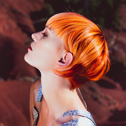 Tendance coiffure : coloration cheveux corail, Gravity Jean Vallon
