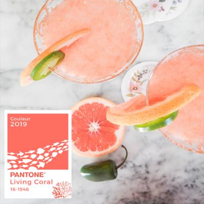 Tendance couleur 2019 : la couleur corail Living Coral de Pantone